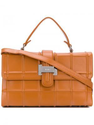 Прямоугольная сумка-тоут Rodo. Цвет: коричневый