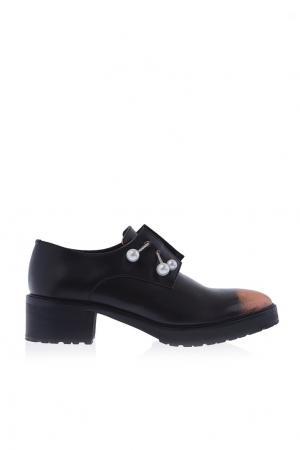 Кожаные ботинки Coliac. Цвет: черный, пудрово-розовый