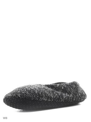 Носки-тапочки HOBBY LINE. Цвет: серый, темно-серый