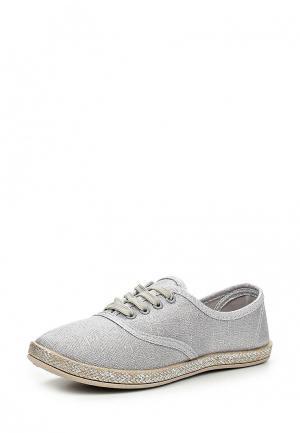 Кеды Sweet Shoes. Цвет: серебряный