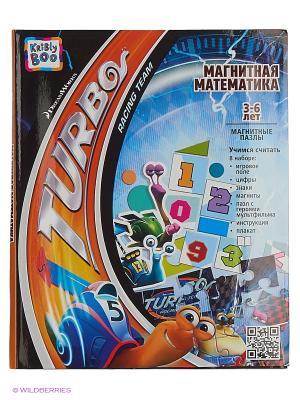 Магнитная книжка Турбо математика 43x24 см Kribly Boo. Цвет: белый, голубой, красный, оранжевый, черный