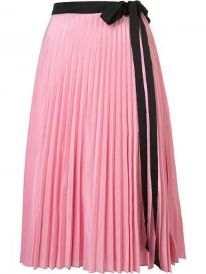 Юбка Pleated Wrap Tome. Цвет: розовый и фиолетовый