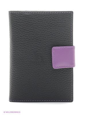Бумажник водителя Dimanche. Цвет: черный, фиолетовый