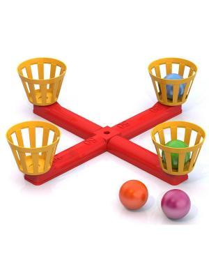 Напольная игра Веселый баскетбол Нордпласт.. Цвет: красный, оранжевый
