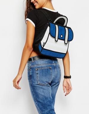 JumpFromPaper Рюкзак сэтчел в темно-синюю полоску. Цвет: темно-синий