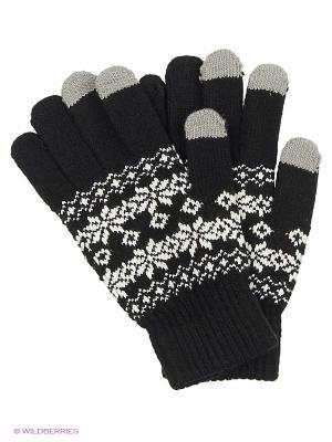 Перчатки для сенсорных экранов TERRITORY. Цвет: черный