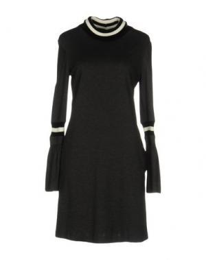 Короткое платье TENAX. Цвет: свинцово-серый