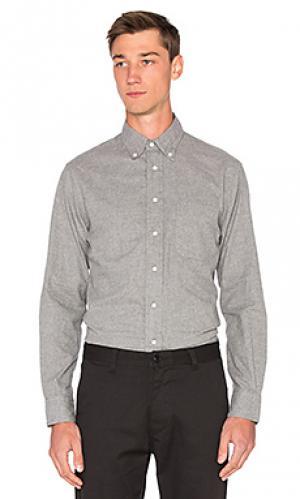 Фланелевая рубашка на пуговицах vintage Gitman. Цвет: серый