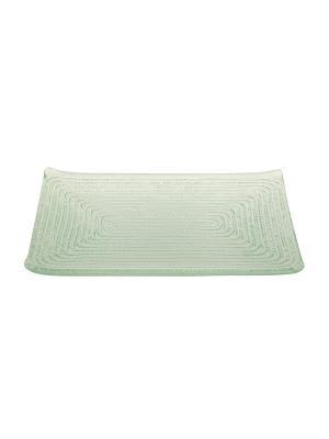Прямоугольная тарелка Верёвочка Elff Ceramics. Цвет: прозрачный