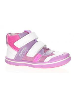 Ботинки Bartek. Цвет: фиолетовый, белый