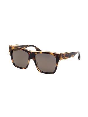 Солнцезащитные очки McQueen. Цвет: коричневый, темно-коричневый