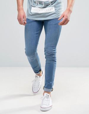 ASOS Светлые джинсы скинни. Цвет: синий
