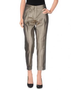Повседневные брюки TRUE ROYAL. Цвет: золотистый
