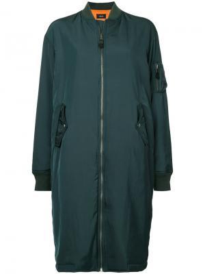Длинная куртка-бомбер на молнии G.V.G.V.. Цвет: зелёный