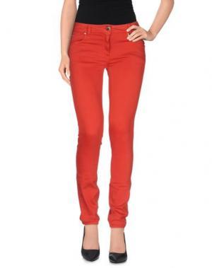 Повседневные брюки ROCCOBAROCCO. Цвет: красный