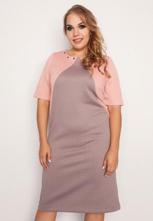 Платье Eliseeva Olesya. Цвет: бежевый