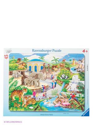 Пазл Прогулка по зоопарку, 45 шт Ravensburger. Цвет: голубой