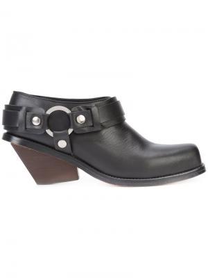 Ботинки на толстом каблуке Wanda Nylon. Цвет: чёрный