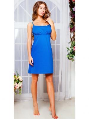Ночная сорочка Анатель. Цвет: синий