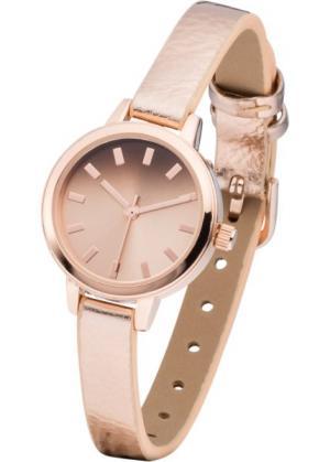 Часы (розово-золотистый металлик) bonprix. Цвет: розово-золотистый металлик