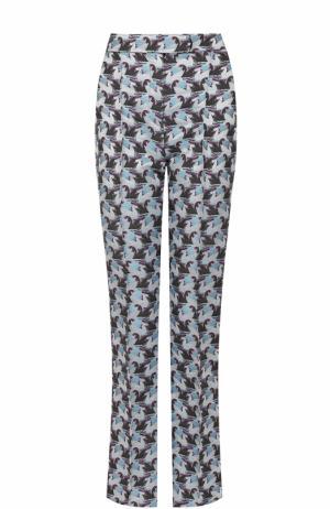 Расклешенные брюки со стрелками и принтом Mary Katrantzou. Цвет: голубой