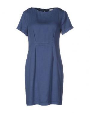Короткое платье GRAN SASSO. Цвет: темно-синий