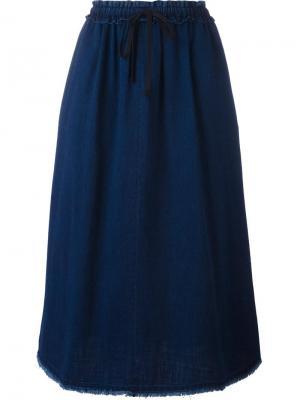 Джинсовая юбка Masscob. Цвет: синий