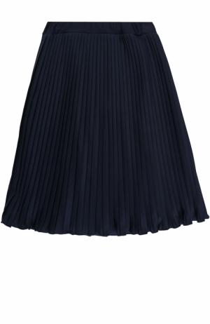 Плиссированная юбка из вискозы Caf. Цвет: темно-синий