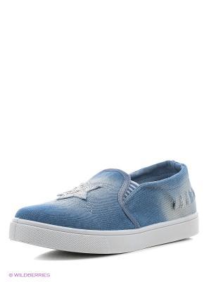 Слипоны Litto. Цвет: голубой