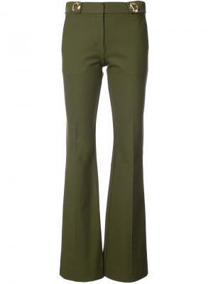 Расклешенные брюки Derek Lam 10 Crosby. Цвет: зелёный