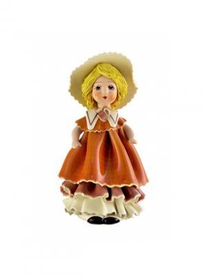 Статуэтка Кукла Zampiva. Цвет: коричневый, белый, желтый