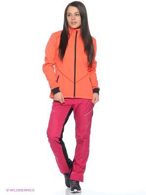 Куртка Lillehammer Swix. Цвет: антрацитовый, коралловый, розовый