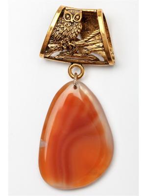 Кулон-украшение для платка Anastasiya Usoltseva. Цвет: терракотовый, бронзовый, светло-коричневый