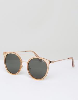 Quay Eyewear Солнцезащитные очки в круглой оправе Australia. Цвет: золотой