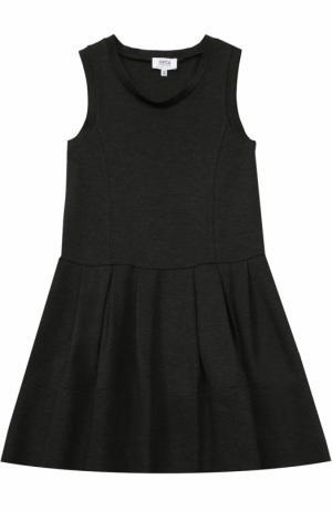 Трикотажное платье без рукавов с защипами Aletta. Цвет: темно-серый
