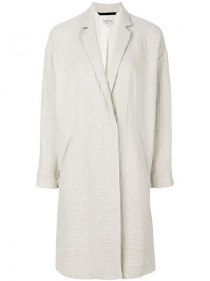 Однобортное пальто Forte. Цвет: телесный