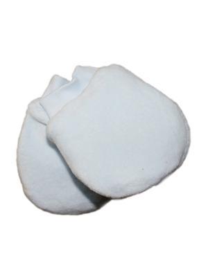Варежки велюр на синтепоне КиСса. Цвет: белый