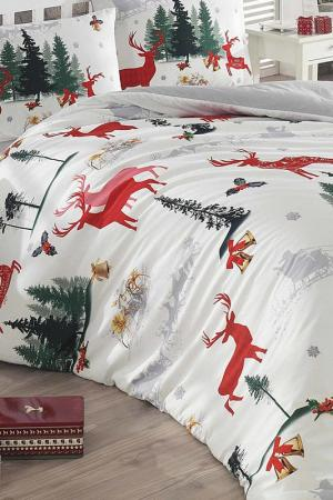 Double Duvet Cover Set COLORS OF FASHION. Цвет: grey, red, green