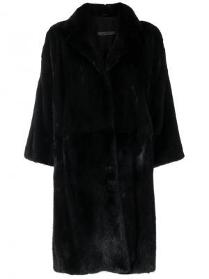 Пальто с укороченными рукавами Simonetta Ravizza. Цвет: чёрный
