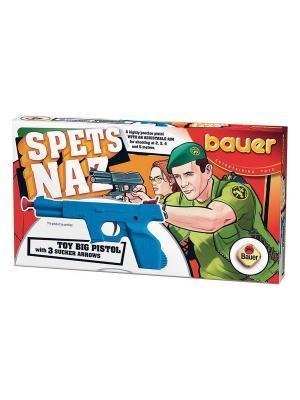 Пистолет Спецназ с тремя стрелами на присосках (в коробке) 18/18 Bauer. Цвет: оранжевый
