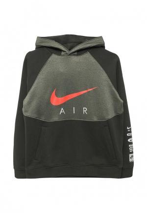 Худи Nike. Цвет: зеленый