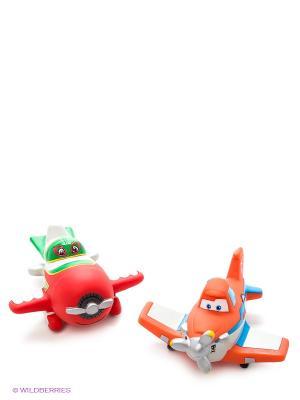 Набор из 2-х игрушек для купания Играем Вместе Disney самолеты. Цвет: красный, оранжевый