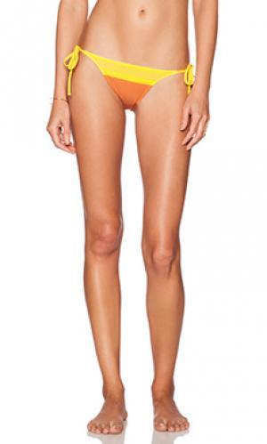 Нижняя часть бикини -стринги charlie by Matthew Zink. Цвет: оранжевый
