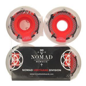 Колеса для скейтборда  Innercore White/Red 101A 52 mm Nomad. Цвет: белый,красный