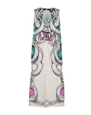 Платье длиной 3/4 MANISH ARORA. Цвет: белый