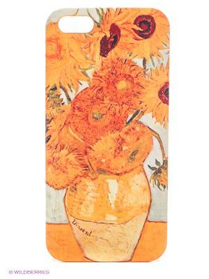 Чехол для IPhone 5 Подсолнухи Ван Гога Mitya Veselkov. Цвет: оранжевый
