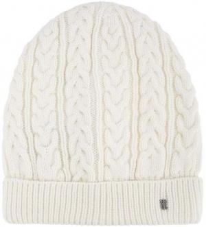 Вязаная шапка из шерсти и акрила Tommy Hilfiger. Цвет: молочный