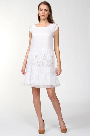 Свободное платье с рукавом Крылышко Scervino Street. Цвет: белый