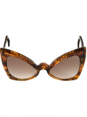 Солнцезащитные очки Neo-Futurist  Barns Barn's. Цвет: коричневый
