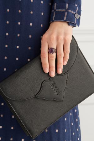 Серебряное кольцо с аметистом «Леденец» AVGVST by NATALIA BRYANTSEVA. Цвет: фиолетовый